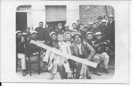 Groupe De Soldats Français De La Légion étrangère Avec Des Civils 1 Carte Photo 1914-1918 14-18 Ww1wk WWI - War, Military