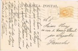 10807. Postal GERONA  1922. Fechador Rodillo - Covers & Documents