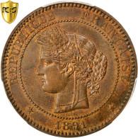 Monnaie, France, Cérès, 10 Centimes, 1891, Paris, PCGS, MS63BN, SPL, Bronze - France
