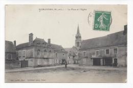 Morannes  -  La Place Et L'Eglise - Autres Communes