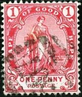 CAPO DI BUONA SPERANZA, CAPE OF GOOD HOPE, COMMEMORATIVO, UOMINI CELEBRI, 1898,  USATO, Scott 60 - Cape Of Good Hope (1853-1904)