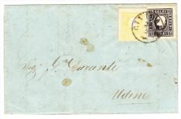 1862 Faltbrief Von CIVIDALE 26.2.1862 Nach Udine - Lombardo-Venetien