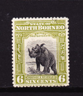Bornéo Du Nord - North Bornéo - 1909 - YT 136 - Mi 132 - Scott 142 Rhinocéros Used - Bornéo Du Nord (...-1963)