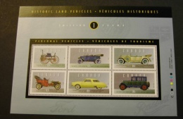 Canada 1490 Complete Sheet 6 Historic Automobiles Taylor Steam Buggy Touring Ford Model T Studebaker More MNH 1993  A04s - Blocks & Sheetlets