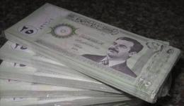 IRAQ banknote, one bundle (100pcs) of  25 DINARS P-86 2002 UNC
