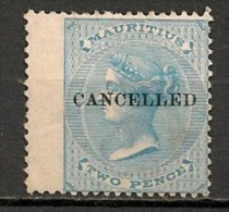 Timbres - Grande-Bretagne (ex-colonies Et Protectorats) - Maurice - 1863 - 2 Pence - - Maurice (...-1967)