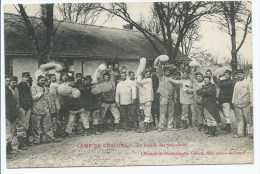 CPA TRES ANIMEE CAMP DE CHALONS, LA BATAILLE DES POLOCHONS, MARNE 51 - Camp De Châlons - Mourmelon