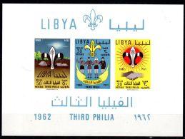 Libye 1962, Third Phila - Scouts, YT  Bloc 4, Neuf **, Lot 42436 - Neufs