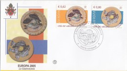 Vatican 2005 Mi 1521/2 YT 1378/9 Sc 1299/300 Europa Cept. Gastronomy. Painted Dishes By Picasso FDC Type 1 - Picasso
