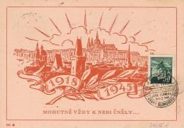 BR 144 BOHEMEN EN MORAVIE BRIEKAART CHOCEN 9.IX.1945 - Bohême & Moravie