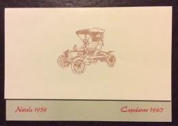 FORLI' FIAT Concessionaria V. ANTOLINI OSSI - BIGLIETTO AUGURI NATALE 1959 CAPODANNO 1960 - Documentos Históricos