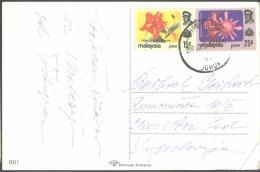MALAYSIA - JOHOR - ORCHIDS - FLOWERS - On Card - Malaysia (1964-...)