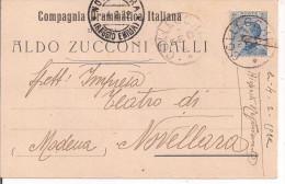 ALDO ZUCCONI GALLI, COMPAGNIA DRAMMATICA ITALIANA, CARTOLINA TIMBRO POSTE COLLECCHIO,1922, PER NOVELLARA - Teatro, Travestimenti & Mascheramenti