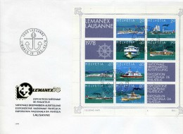 LETTRE LEMANEX LAUSANNE 1978 SUISSE -  A SAISIR - Used Stamps