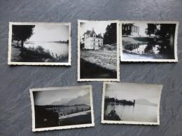 Château De Poncé, Neuvy-sur-Loire, Menthon, Lot De 5 Photos 1951 ; Ref 571 PH22 - Places