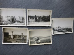TUNISIE CARTHAGE Lot De 5 Photos  Mars 1951 ; Ref 557 PH22 - Boats