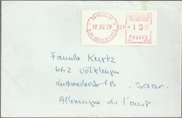 FRANCIA PARIS CC CON FRANQUEO MECANICO RUE DE VOUILLE 1979 - EMA (Print Machine)