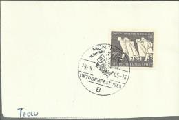 ALEMANIA MUNCHEN FRAGMENTO CON MAT OKTOBERFEST 1965 - Fiestas