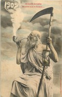 Réf : PO-14 - 050 :    Bergeret éditeur à Nancy Bonne Année 1905 ( La Faux ) - Cartes Postales