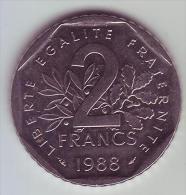 2 Francs Semeuse Nickel - 1988 - SUP/SPL -