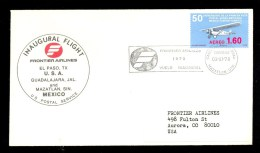 MEXICO FFC INAUGURAL FLIGHT FRONTIER AIRLINES EL PASO USA - GUADALAJARA / MAZATLAN MEXICO * 1978 - Mexico