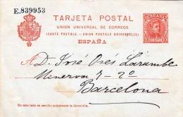 Spanien Espana Ganzsache Nummeriert 1910? Auf Pk Beschrieben