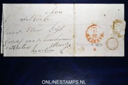 Nederland: Vouwbrief  Oude Wetering Naar Haarlem - Nederland