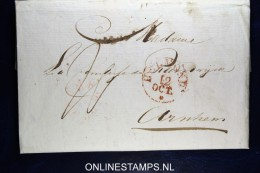 Nederland: Complete Brief Van Helmond Naar Arnhem 1832 - ...-1852 Voorlopers