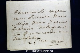 Nederland: Complete Vouw Brief Uit 1661, Middelie Naar Gent, Waszegel - ...-1852 Vorläufer