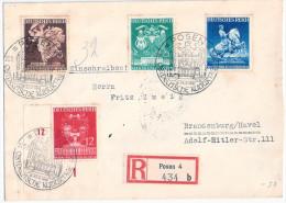 POSEN R - Brief  21.3.1941 Sonderstempel DEUTSCHE KULTURTAGE Nach BRANDENBURG Havel - Allemagne