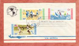 FDC, Flugpostmarken, Olympische Spiele Melbourne, Olympiasieger, Erstausgabestempel 1959 (61442) - Dominikanische Rep.
