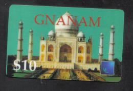UNITED STATES -  CENTERS PHONECARD  ( GNANAM $10 PHONECARD ) USED 2000 - Etats-Unis
