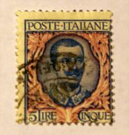 Italy 1901 Floreale Lire 5 Used VF - Storia Postale