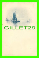 NETHERLAND - SHIPS -  UNDIVIDED BACK - TRAVEL IN 1899 - - Pays-Bas