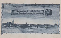 Litho AK Ortrand Zwischen Schlesien Und Sachsenland Grüsst Der Ort Am Rand Bei Ruhland Thiendorf Grossenhain Schwepnitz - Ortrand