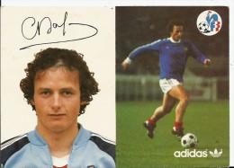 Dalger Christian, Ailier , 1 Selection 1974 Contre La Roumanie, Dédicace , Carte Adidas , 2 Scans - Calcio
