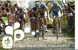 Le Nord Pas De Calais, C'est D'enfer - Course Cycliste Paris Roubaix - Carte Conseil Général Nord Pas De Calais - Radsport