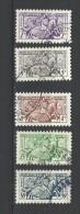 """Monaco YT 371 à 375 """" Sceau Du Prince 1ère Série """" 1951 Oblitéré - Used Stamps"""