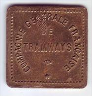Monnaie De Nécessité - 76 - Le Havre - Compagnie Générale Française De Tramways. 20c - - Monétaires / De Nécessité
