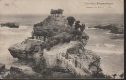 D 580) Biarritz, Rocher Du Basta, Frankreich Mittelmeer (1912) - Biarritz