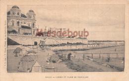 17 - ROYAN -  Casino Et Plage Municipal  -  Dos Precurseur Vierge  - 2 Scans - Royan