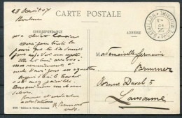 Switzerland Fieldpost Feldpost Post Militaire Bataillon 7 Eglise De Baulmes Postcard - Documents