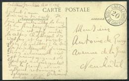 1917 Switzerland Fieldpost Feldpost Post Militaire Bataillon 20 Postcard - Documents