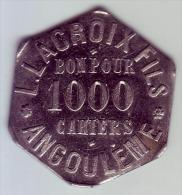 Monnaie De Nécessité - 16 - Angoulême - L.Lacroix. 1000 Cahiers - - Monétaires / De Nécessité