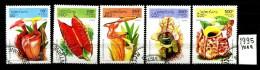 LAOS - LAO - Carnivorous Plants - Year 1995 - Usati - Used- SERIE COMPLETA - Michel 1475/1479. - Pflanzen Und Botanik