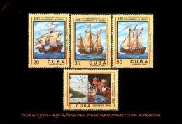CUBA/KUBA 1982 490° ANIVERSARIO DEL DESCUBRIMIENTO DE AMERICA MNH - Cuba