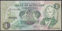 Bank Of Scotland, 1 Pound, P.111d (Clydesmuir/Pattullo) F - [ 3] Scotland