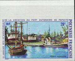 FN1236 Polynesia 1972 Papeete Port Ship Imperf 1v MNH - Polinesia Francese