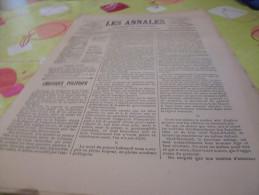 Les Annales 689  Du 6 Septembre 1896-exposition Universelle De 1900-projet Architecte - Books, Magazines, Comics