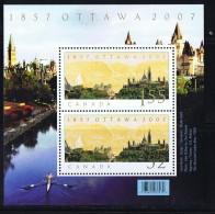2009  Ottawa Capital Sesquicentennial   Sc 2213 Sheet Of  2 Different ** - Neufs